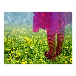 Dreamy Girl Dancing Photograph Postcard