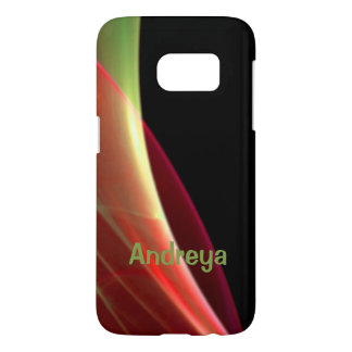 Dreamy Green and Red Sweep Samsung Galaxy S7 Case