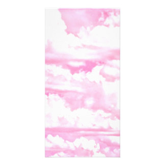 Dreamy Happy Pink Clouds Card