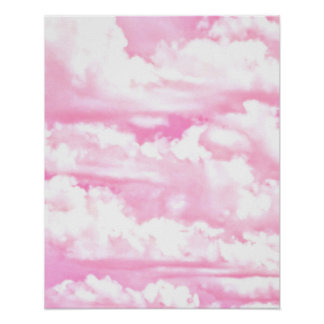 Dreamy Happy Pink Clouds Poster