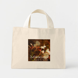 Dreamy Jungle Flowers; Mexico Souvenir Mini Tote Bag