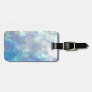 Dreamy Light Blue Shimmer Background art Tag For Bags