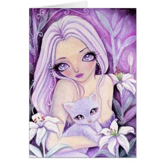 Dreamy Lily - blank card