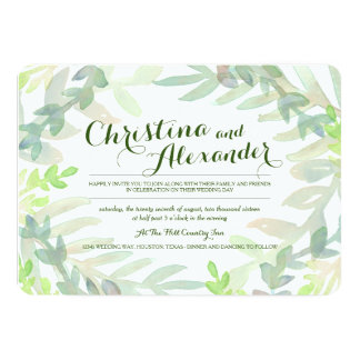Dreamy Meadow Wedding 5x7 Paper Invitation Card