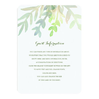 Dreamy Meadow Wedding Insert 4.5x6.25 Paper Invitation Card