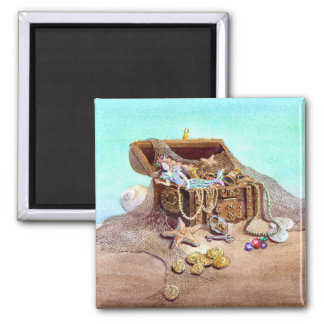 DREAMY MERMAID by SHARON SHARPE 2 Inch Square Magnet