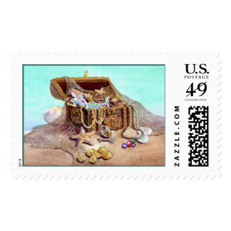 DREAMY MERMAID by SHARON SHARPE Postage Stamps