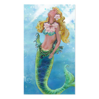 Dreamy Mermaid Painting Double-Sided Standard Business Cards (Pack Of 100)