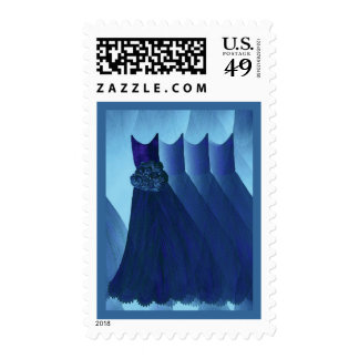 Dreamy NAVY BLUE Bridesmaid Dresses Stamps