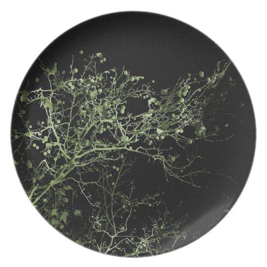Dreamy Night Landscape Plate