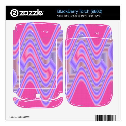 dreamy pink abstract art BlackBerry decal