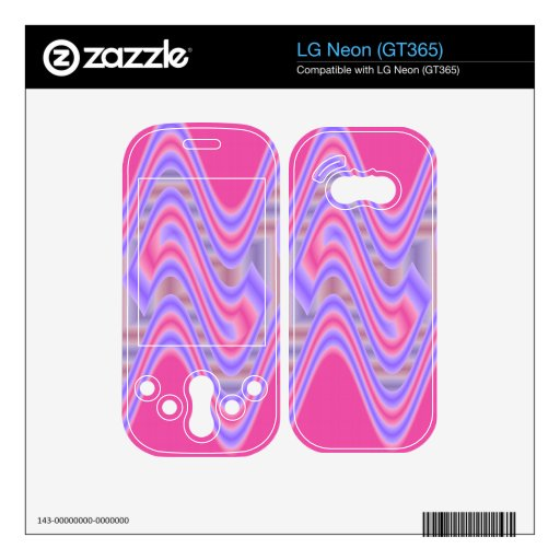 dreamy pink abstract art skin for the LG neon