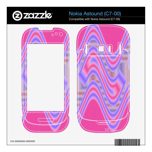 dreamy pink abstract art skin for nokia astound