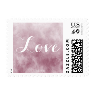 Dreamy Pink Abstract Love Postage