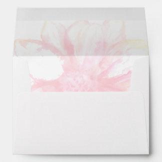 Dreamy Pink Floral Lined Envelope