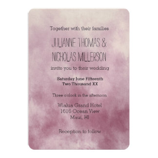 Dreamy Pink Love is Patient Wedding Card