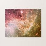 Dreamy Pink Orange Ombre Beautiful Nebula Jigsaw Puzzles