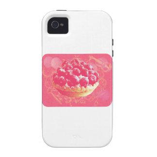Dreamy Pink Romantic Blueberry Tart with Swirls iPhone 4 Case