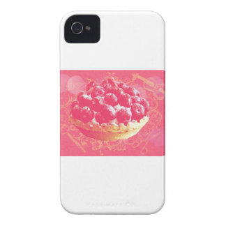 Dreamy Pink Romantic Blueberry Tart with Swirls iPhone 4 Covers