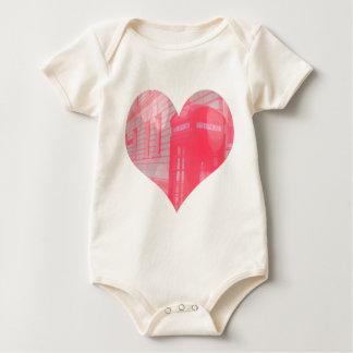 Dreamy Pink Telephone Box Baby Bodysuit
