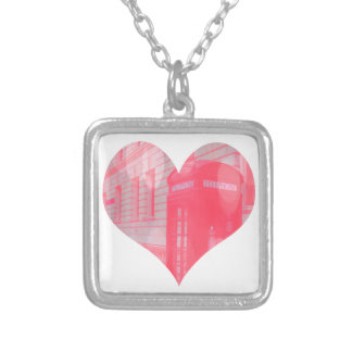 Dreamy Pink Telephone Box Necklaces