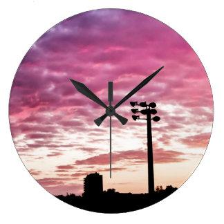 Dreamy Pink Twilight Round Wall Clocks