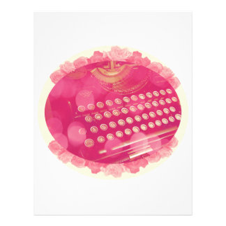 Dreamy Pink Typewriter Custom Letterhead