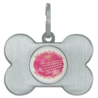 Dreamy Pink Typewriter Pet ID Tags