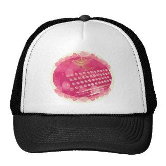 Dreamy Pink Typewriter Trucker Hat
