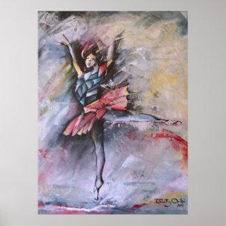 Dreamy Pirouette Poster by Timothy Orikri