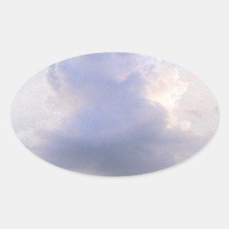 Dreamy Purple Clouds Oval Sticker