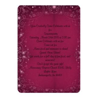 """Dreamy Purple Elegance Surprise Party Invite 5"""" X 7"""" Invitation Card"""