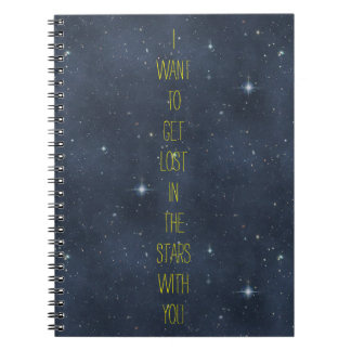 Dreamy Romantic Lost in the Stars Starry Night Sky Notebook