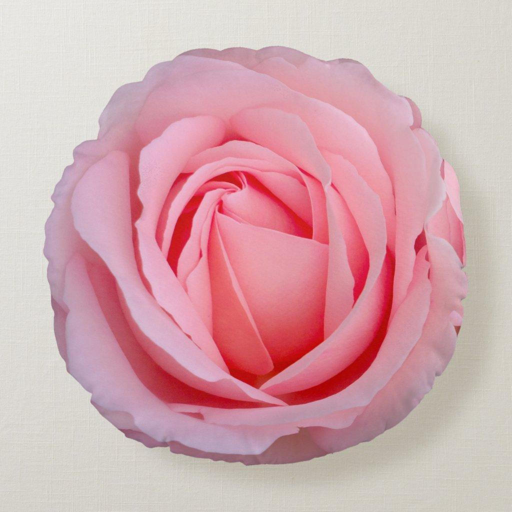 Dreamy Rose Round Throw Pillow