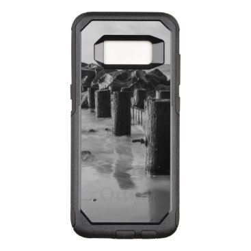 Beach Themed Dreamy Seawall Grayscale OtterBox Commuter Samsung Galaxy S8 Case