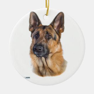 Dreamy Shepherd Dog Ceramic Ornament