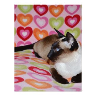 Dreamy Siamese Cat Hearts Letterhead