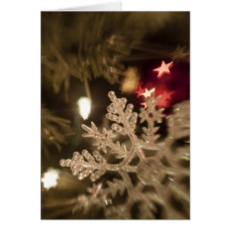 Dreamy Snow Flake Ornament Greeting Card