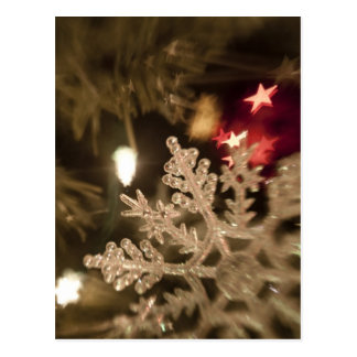 Dreamy Snow Flake Ornament Postcard