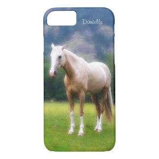 Dreamy  Soft Palomino Horse Painted Look iPhone 8/7 Case