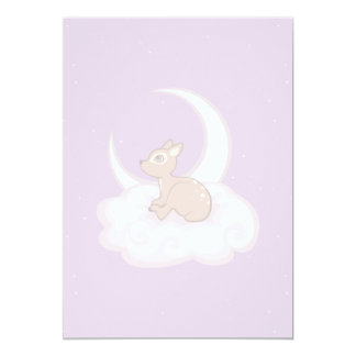 Dreamy Star Spotted Fawn In The Clouds Art Card