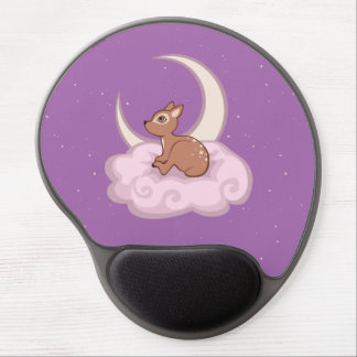 Dreamy Star Spotted Fawn In The Clouds Art Gel Mouse Pad
