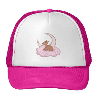 Dreamy Star Spotted Fawn In The Clouds Art Trucker Hat