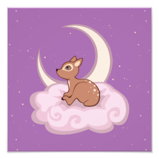 Dreamy Star Spotted Fawn In The Clouds Art Photo