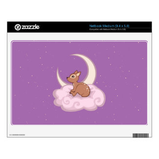 Dreamy Star Spotted Fawn In The Clouds Art Medium Netbook Skins