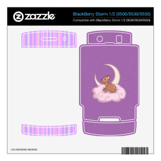 Dreamy Star Spotted Fawn In The Clouds Art Skin For BlackBerry Storm