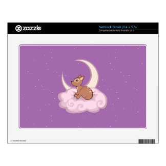 Dreamy Star Spotted Fawn In The Clouds Art Small Netbook Skin
