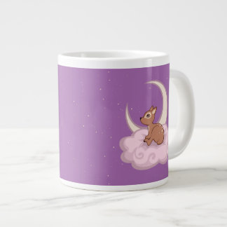 Dreamy Star Spotted Fawn In The Clouds Art Jumbo Mugs