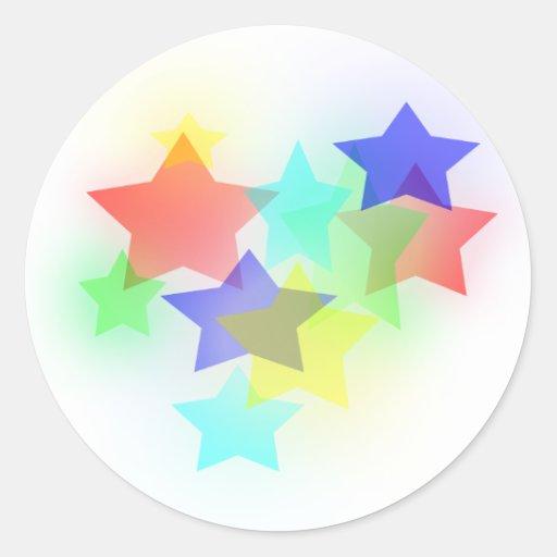 Dreamy Stars Classic Round Sticker