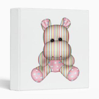 dreamy striped hippo 3 ring binder